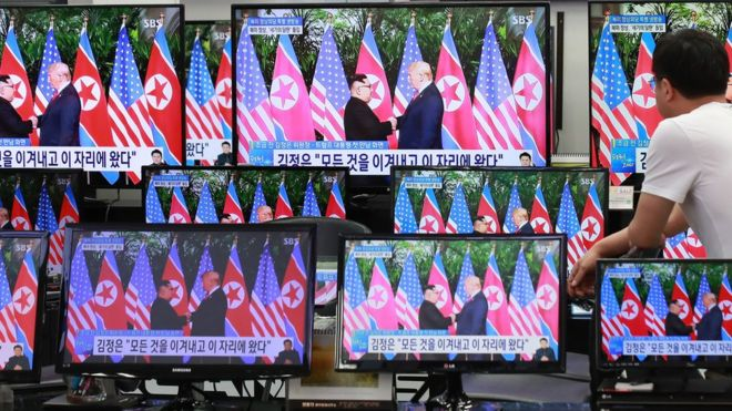 "BBC   美朝峰会:美媒指中国成""最大得益者"""