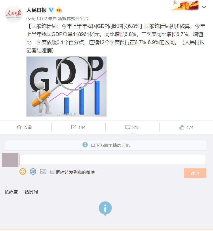 【网络民议】形势向好 统计局辛苦了