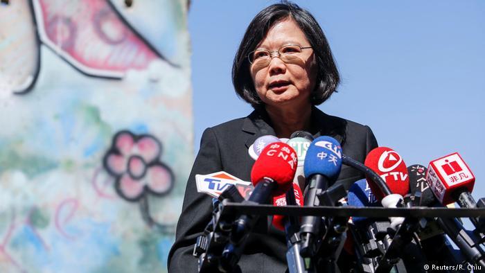 德国之声   蔡英文高调过境洛杉矶 中国外交部:坚决反对
