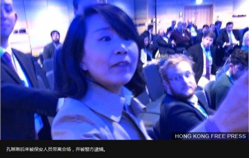 BBC | 大闹英国保守党年会 中国央视女记者打人被捕