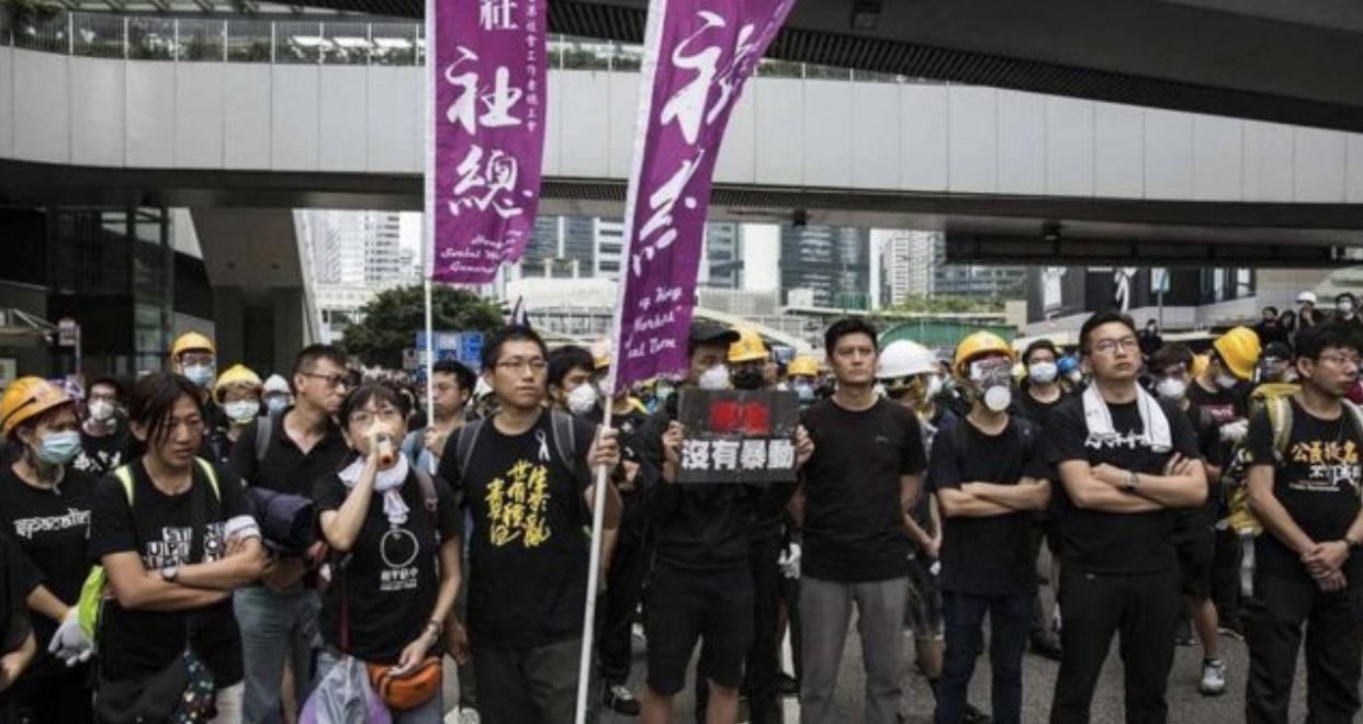 "BBC | 香港抗议中的阵地社工:警盾和""鸡蛋""间的柔软力量"