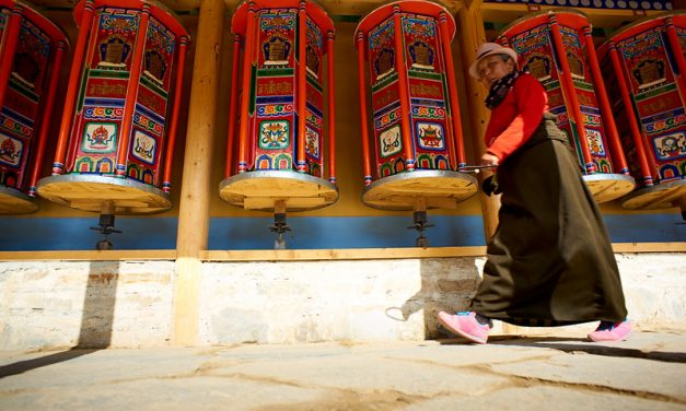 Photo: Labrang Tibetan Buddhist City (Gansu), by Bryon Lippincott