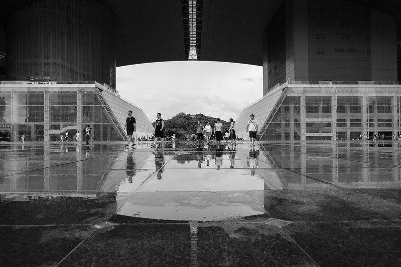 Photo: Civic Centre on a rainy day, by Dietertimmerman