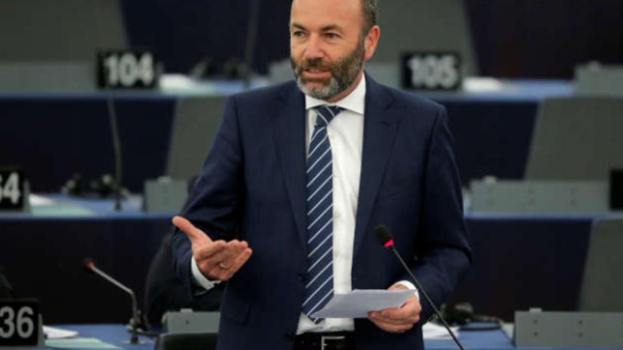 欧洲议会最大党团领袖、欧洲人民党(EPP)主席韦伯资料图片