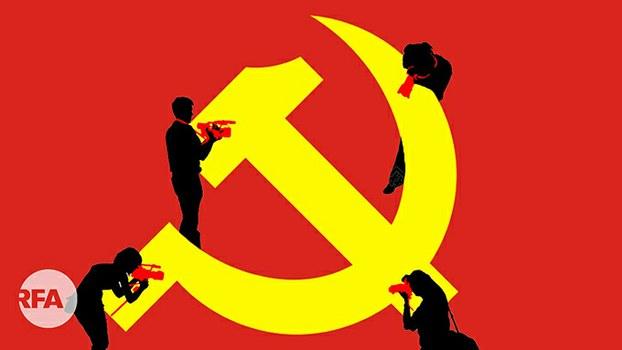 """2020中国记者节: 二十万记者通过""""习思想""""考试(自由亚洲电台制图)"""