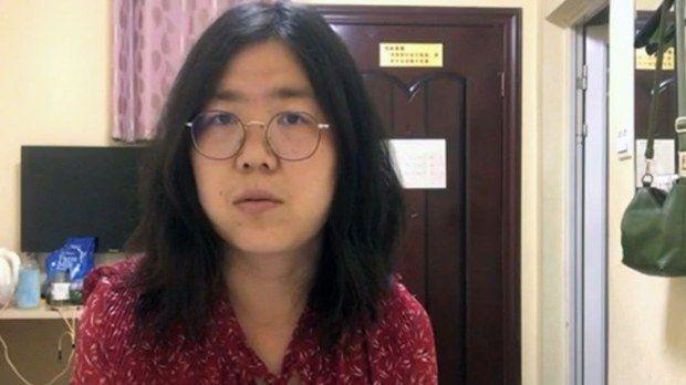 中国公民记者张展(视频截图)