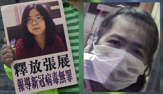 中国公民记者张展被判刑四年(视频截图)