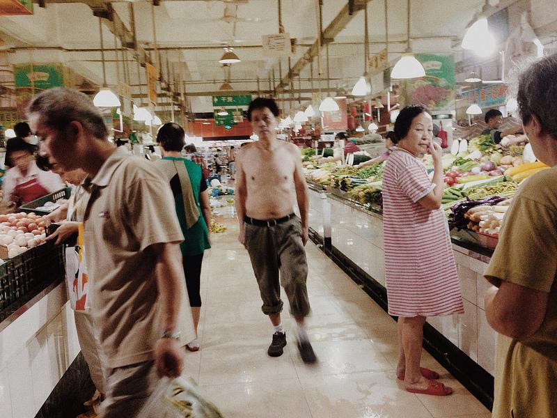 Summer morning vegetable market