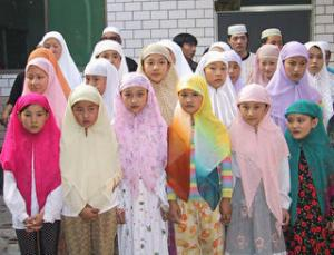 muslim girls in China