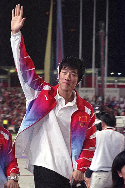 Liu xiang, Chinese athlete. Photo taken in Hong Kong Stadium, 2004