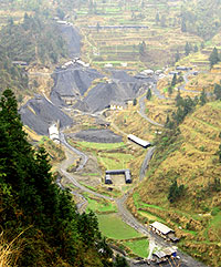Yale Environment 360 photo: A manganese mine in Sichuan province