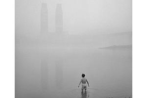 Winter swimming in Chongqing city.