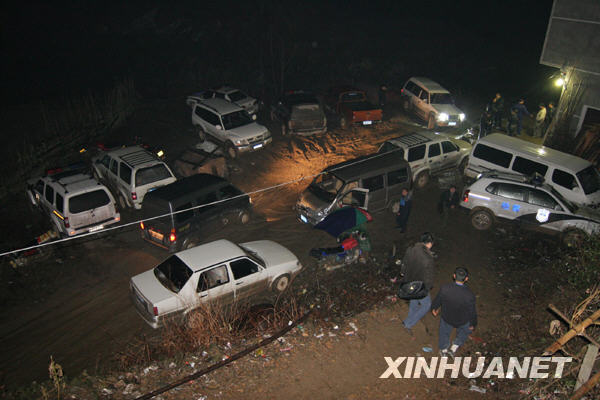 From Xinhua: On December 12, several stopped police cars in Hunan Province, Anhua County, Gaoming Township, discover the crime scene of a major homicide.