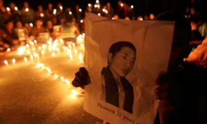 Rally for Tibetan monk who killed himself through self-immolation
