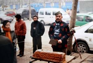Selling qiegao.