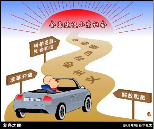 "The winding road of ""socialism with Chinese characteristics."""