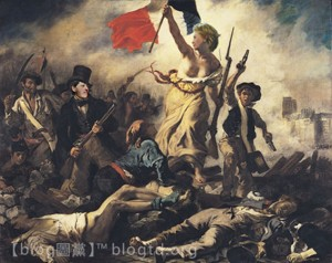 "Netizens circulated this image from Eugène Delacroix's ""Liberty Leading the People"" after Clinton's Remarks on Internet Freedom."