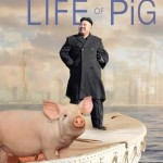 North Korean leader Kim Jong-un and a porcine Richard Parker float by Shanghai. (Star Classmate V)