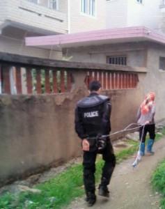 A captive in Dongqiao, Fujian Province, May 11, 2013.