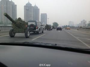 Artillery in Beijing, May 9. (Weibo)