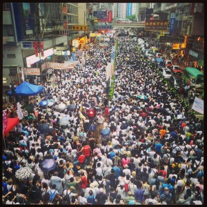 July 1 protests in Hong Kong. (Facebook)
