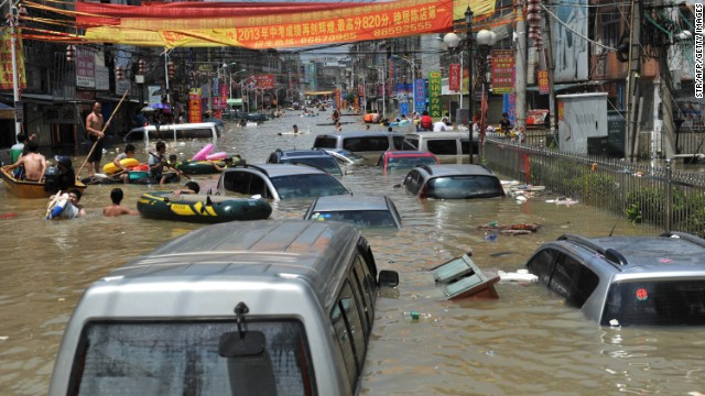 Floods Leave At Least 107 Dead in China