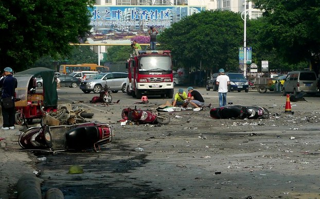 Explosions at Guilin School, Guangzhou Storehouse