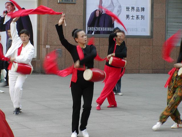 Women dancing, Shanghai