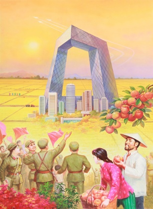 North Korean Propaganda Artists Paint a Rosy China