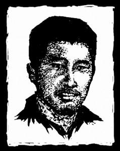Portrait of Xia Junfeng by Badiucao (@badiucao).