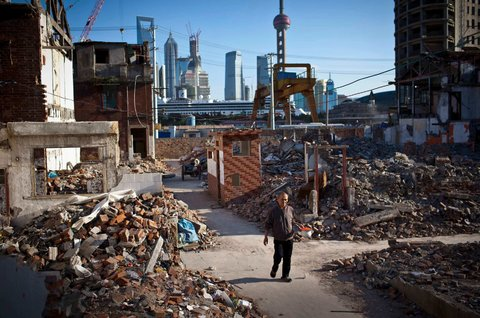 China's Mountains of Construction Rubble