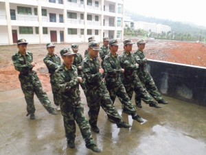 Chenzhou Vocational Technical College's campus guard. (湖南省学校周边治安综合治理信息网)