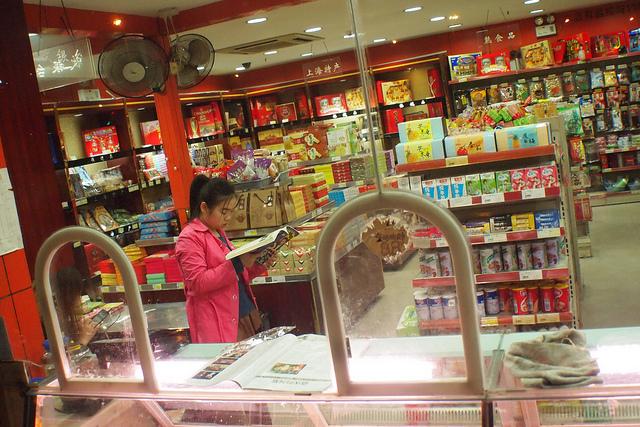 Sales clerk, Shanghai, Fall 2013