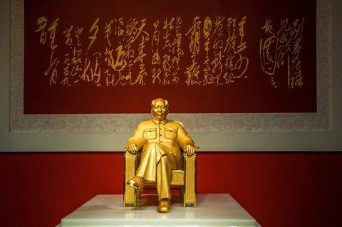 Gilded Mao Statue Marks Birthday Bash