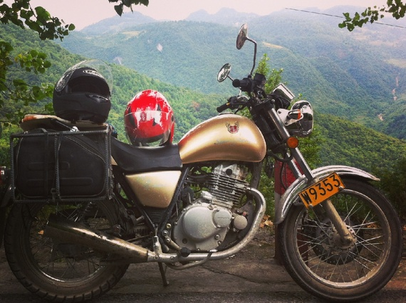 Retracing the Long March by Motorcycle