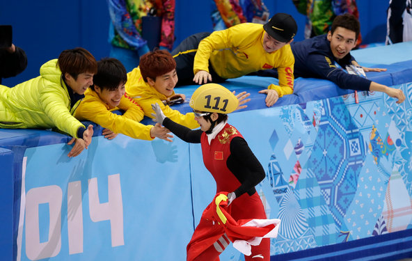 China Celebrates First Gold Medals In Sochi