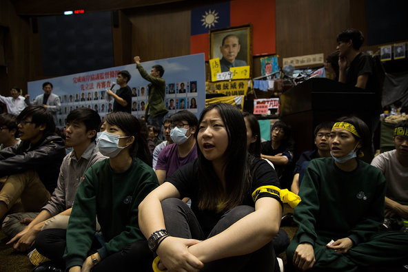 "Taiwanese Protesters ""Waging War On the Ma Gov't"""