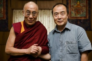 Wang Lixiong wih the Dalai Lama in 2009. (Woeser)