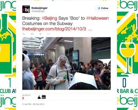Beijing Bans Halloween Costumes on Subway