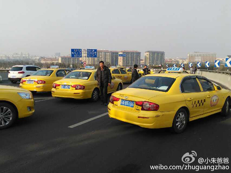 Strikes by Taxi Drivers Spread Across China