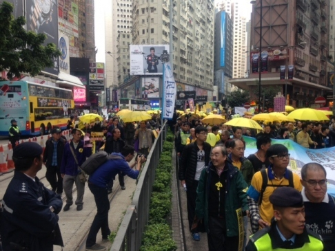 Hong Kong Protesters Take to the Streets Again