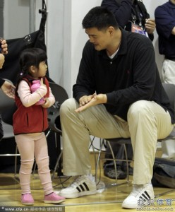 CPPCC member and retired Chinese NBA player Yao Ming's daughter Yao Qinlei was born in Houston and is a U.S. citizen. (Source: Sohu Sports)