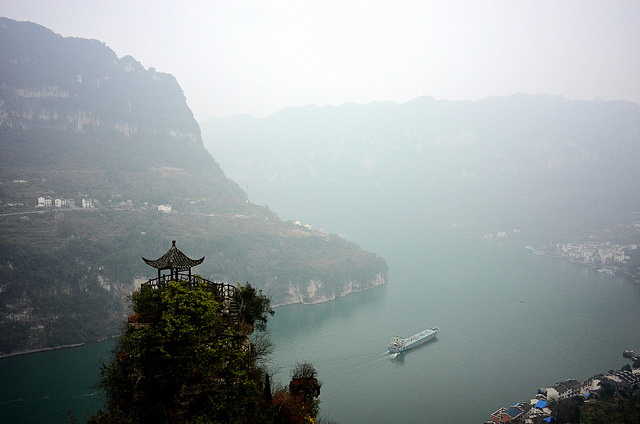 The Moon Bay of Xiling gorge