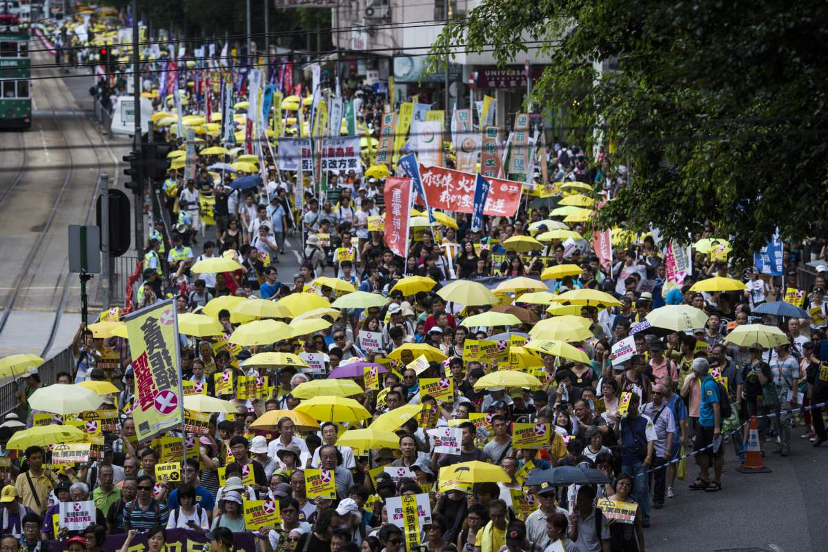 Protests Break Out Ahead of HK Electoral Reform Vote