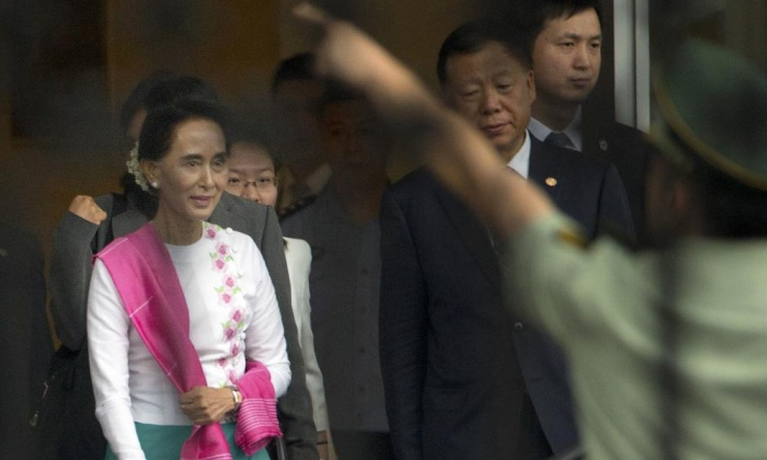 Aung San Suu Kyi Arrives in China for First Visit
