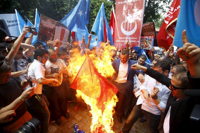Protesters in Turkey Oppose Restrictions in Xinjiang