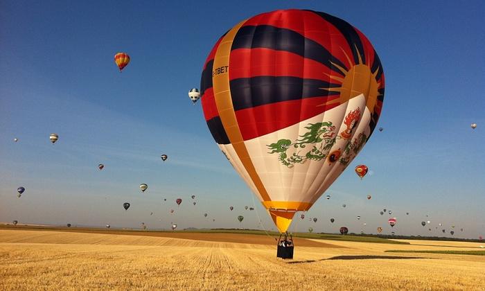 Chinese Embassies Battle Tibet Flag Hot Air Balloon