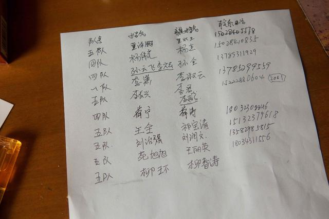 Family members collected a list of missing auxiliary firefighters and contact information.