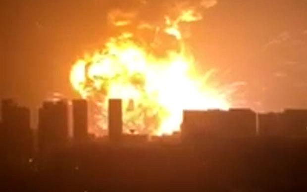 Massive Explosion Rocks Tianjin Port