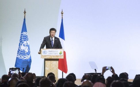 Xi Jinping in Paris for Climate Change Summit